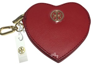 Tory Burch TORY BURCH RED HEART KEY FOB COIN PURSE