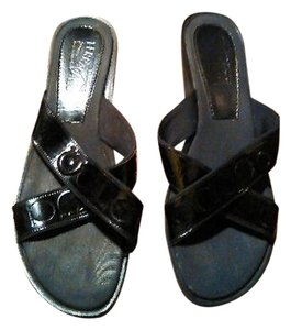 Salvatore Ferragamo Leather Black Sandals