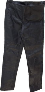 Metro Leather pants Straight Pants Blac
