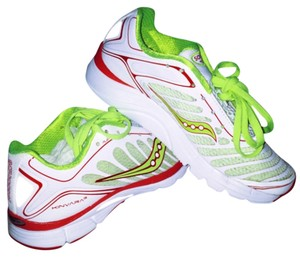 Saucony White, red, lime Athletic
