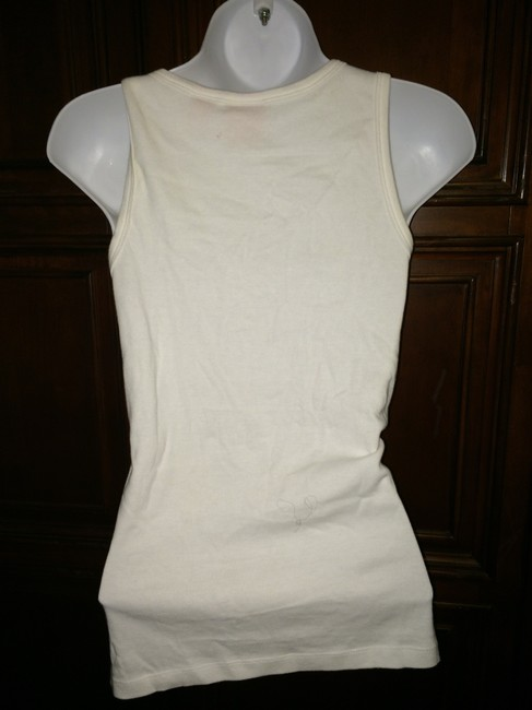 Tory Burch Size Small Copper Disks Top White