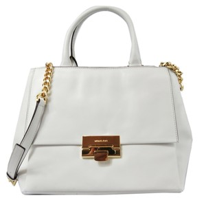 Michael Kors Large Satchel in Optic White