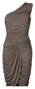Michael Kors Collection Knee Lenght Wedding Dark Ruched Slimming Flattering One Mk Mmk Michael Resort Dress