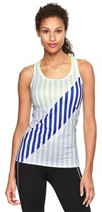 Gap Gap Urban Blue Stripe Tank Extra Small XS NWT $26.95 Racer Back Size 0 Size 2 Running Exercise Workout