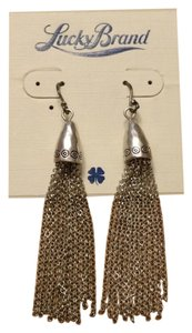 Lucky Brand Tassel Drop Pierced Earrings