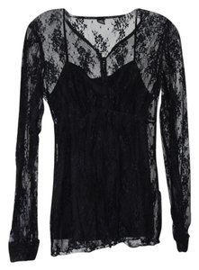 Only Hearts Lace Anthropologie Top Black