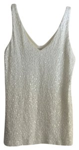 J.Crew Sequin Top Off white