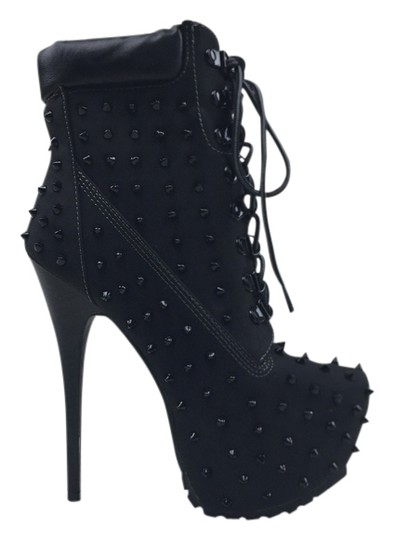 Other Heels Studs Black Boots