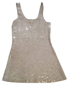 Express Sequin Top Gray