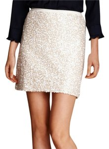 Tommy Hilfiger Sequin Mini Mini Skirt Tan/White Sequins