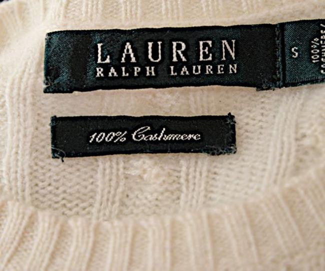 Ralph Lauren Cashmere Cable Jewel Neck Sweater