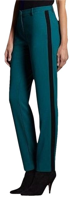Narciso Rodriguez Holiday Dress-up Tuxedo Fancy Trouser Pants Peacock/black