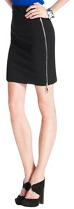 Bar III Exposed Side Zipper Mini Skirt BLACK