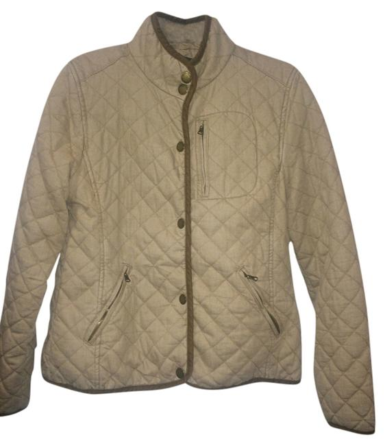 Item - Tan Diamond Quilted Coat Jacket Size 12 (L)