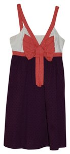 Anthropologie short dress Purple, coral, off-white on Tradesy