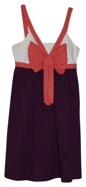 Preload https://item5.tradesy.com/images/anthropologie-purple-coral-off-white-above-knee-short-casual-dress-size-6-s-5314789-0-0.jpg?width=400&height=650