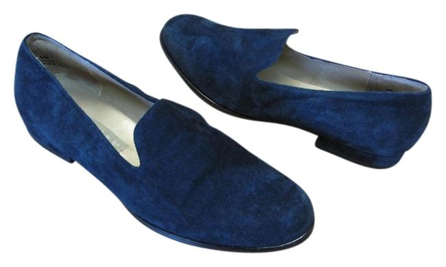 Item - Dark Navy Very Good Condition Suede Leather Flats Size US 8 Regular (M, B)