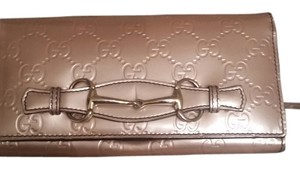 Gucci Gucci light pink patient leather wallet