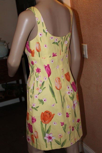 Laundry by Shelli Segal short dress multi colors bright yellow and pink and orange on Tradesy
