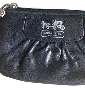 Coach Coach black leather wristlet