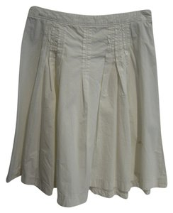 Miss Sixty Skirt White w/beige stitching