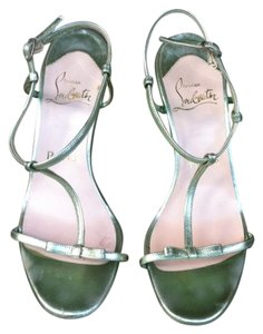 Christian Louboutin Leather Dressy Sandal metallic mint green Sandals