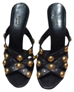 Gucci Babouska Size10 Black Sandals