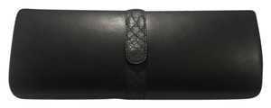 Snakeskin Evening Black Clutch