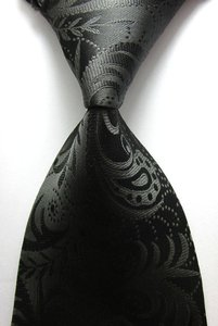 Black Men's Silk Suits Tie-lot Of 5 Tie/Bowtie