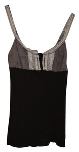 Free People Lace Up Lace Corset Top Black