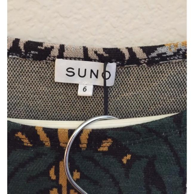 SUNO Skirt Green Jacquard