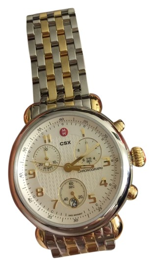 Michele NWT Michele 2 Tone Gold Silver Stainless Steel CSX MWW03D000026