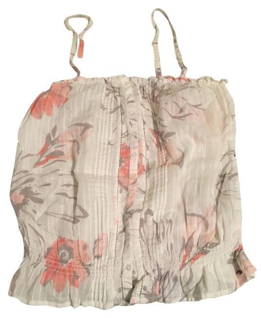 Hollister Ruffle Crop Strappy Top Floral Multi