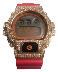 Casio Casio G Shock 3230 with Custom Red Diamond Simulate Watch