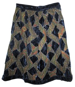 Anna Sui Skirt Dark Blue