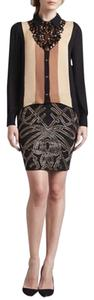 Haute Hippie Mini Skirt Beaded black