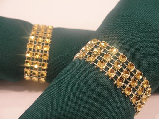 Gold Napkin Rings 150pc Bling Rhinestone Diamond Mesh Sparkle (3 Rows) Quinceanera / Shower / Bridal Party Tablecloth
