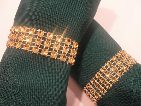 Wedding Napkin Rings 150pc Gold Bling Rhinestone Diamond Mesh Sparkle (3 Rows) Quinceanera / Shower / Bridal Party