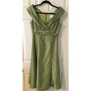 Watters Chartreuse Green Dress