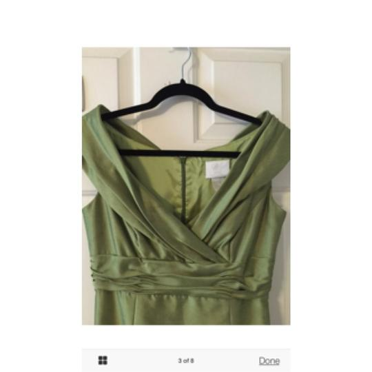 Watters Chartreuse Green Formal Bridesmaid/Mob Dress Size 6 (S)