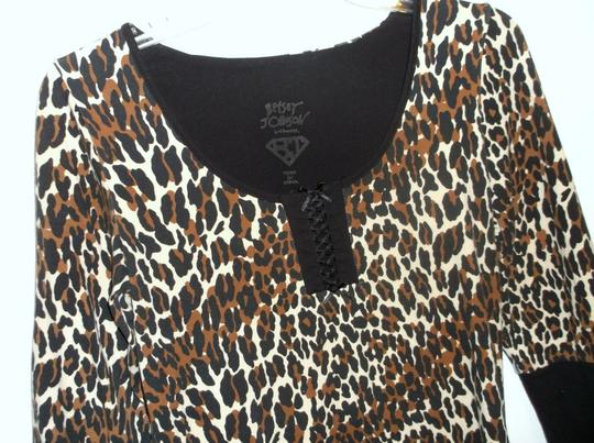 Betsey Johnson Betsey Johnson SeXy Animal Print Night Gown Shirt SZ S