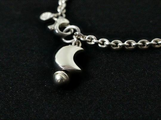 Tiffany & Co. Authentic Tiffany & Co. Sterling Silver Moon Charm Link Bracelet Made in Italy