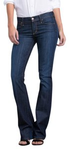 Citizens of Humanity Indigo Cotton Boot Cut Jeans-Dark Rinse
