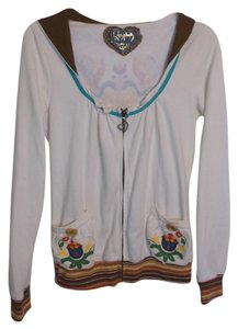 Scrapbook Anthropologie Fleece Hoodie Jacket Cardigan