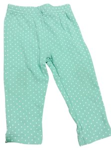 Carters Green With White Dots Leggings