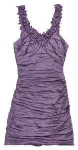 BCBGMAXAZRIA short dress Gathered Sleeveless on Tradesy