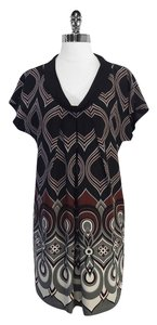 Tibi short dress Print Silk Short Sleeve Shift on Tradesy
