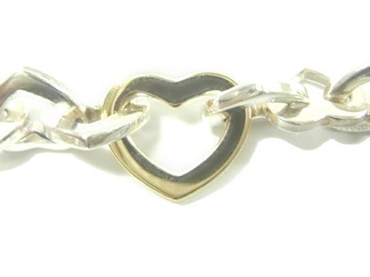 Tiffany & Co. Authentic Tiffany & Co. Sterling Silver & 18K Gold Heart Links Bracelet