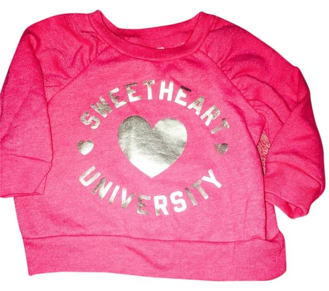 Preload https://item3.tradesy.com/images/old-navy-pink-with-silver-writing-sweatshirthoodie-size-00-xxs-5318962-0-0.jpg?width=400&height=650