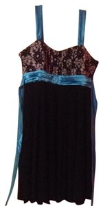 Taboo short dress Black/ Blue/ Floral on Tradesy